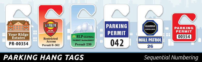 Security Graphics Parking Permits Mirror Hang Tags