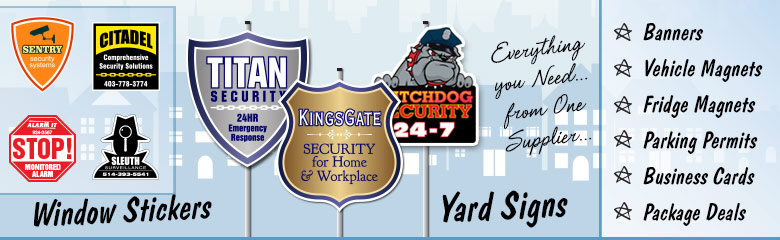 Security graphics yard signs window stickers for the security security graphics yard signs window stickers for the security alarm system industries a division of canadaprintking reheart Images